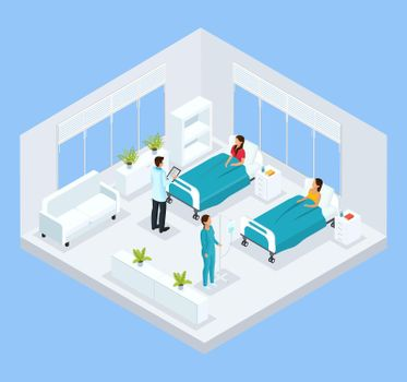 Isometric Medical Treatment Template