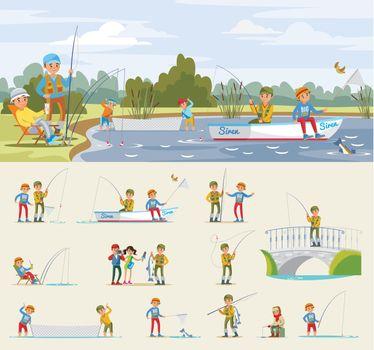 Fishing Activity Concept