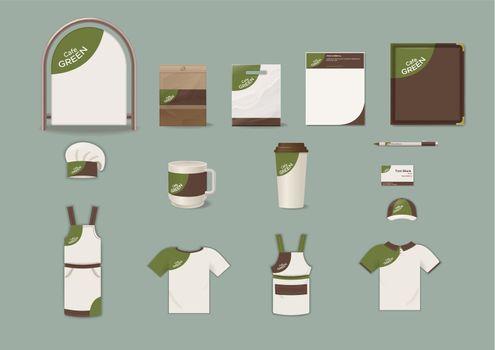 Cafe Corporate Identity Elements Set