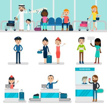 People In Airport Set