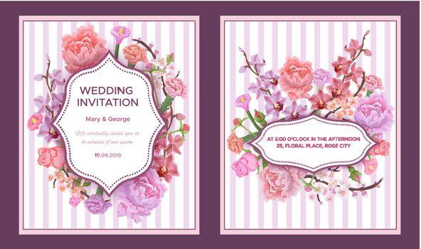 Colorful Wedding Invitation Cards