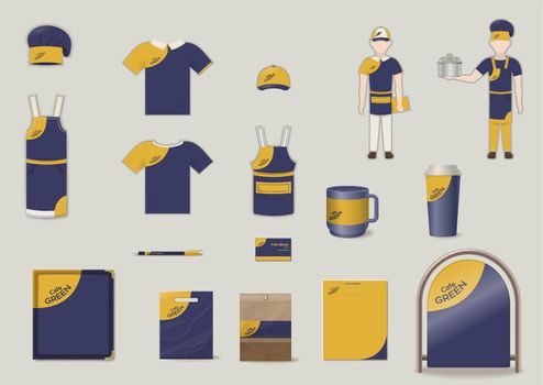 Corporate And Brand Identity Elements Set
