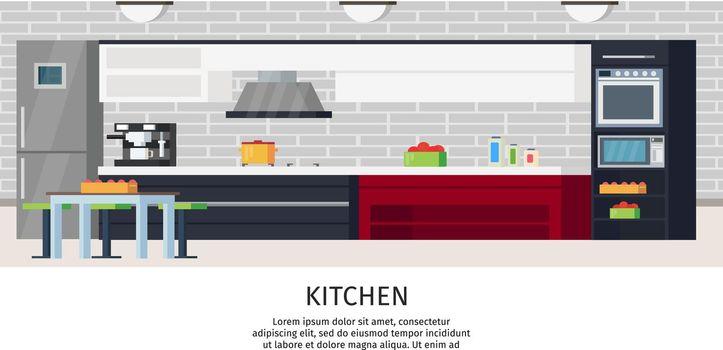 Kitchen Interior Design Composition