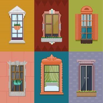Colorful Windows Set