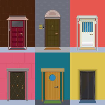 Colorful Entrance Doors Collection