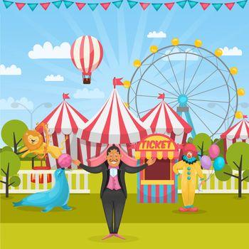 Outdoor Circus Composition