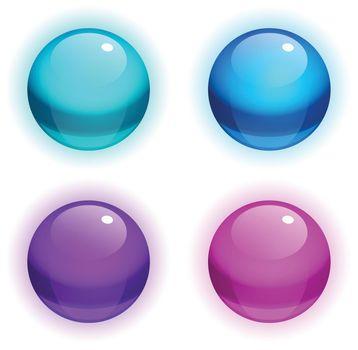 Set of vector Realistic Bubbles