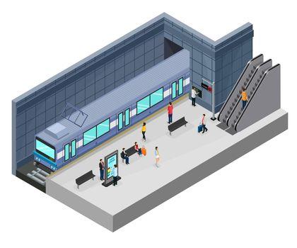 Isometric Subway Station Concept