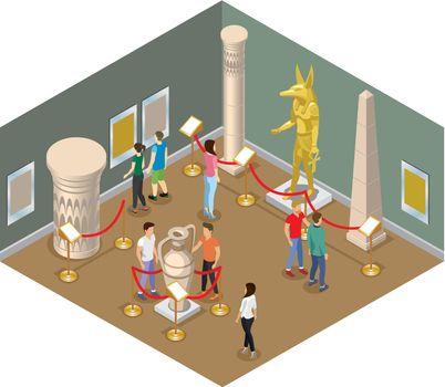 Isometric Museum Hall Concept