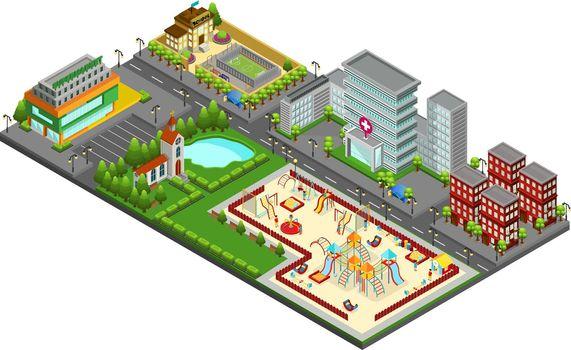 Isometric Cityscape Concept