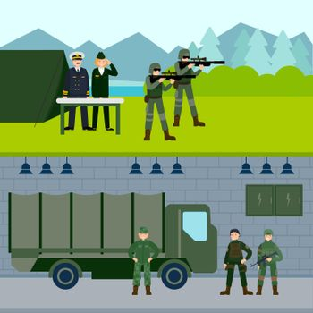 Army Force Horizontal Banners