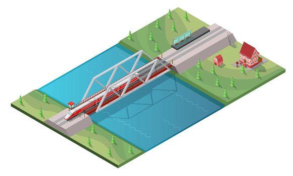 Isometric Passenger High Speed Train Concept