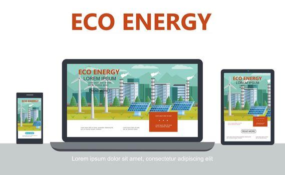 Flat Alternative Eco Energy Concept
