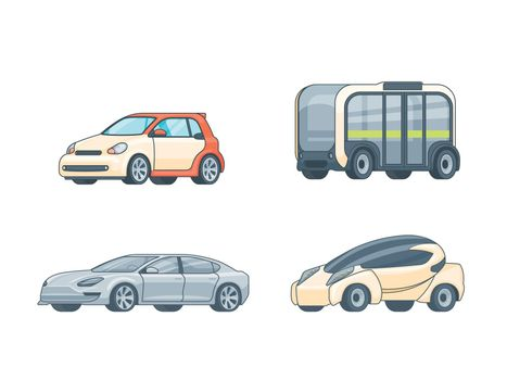 Colorful Electric Cars Collection