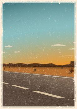 Vintage road poster template