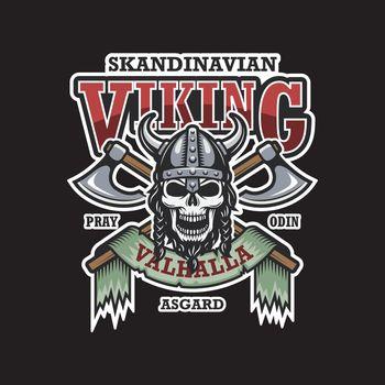 Viking emblem on dark background