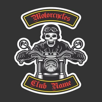 Classic biker embroidery