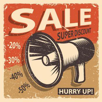 Vintage sale poster