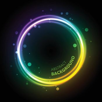 Neon Gradient Circle Background