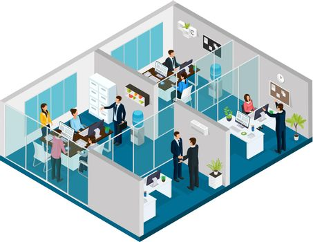 Isometric Law Firm Concept
