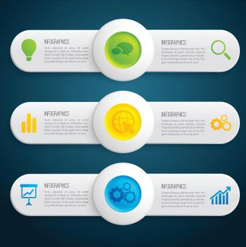Business Information Infographic Horizontal Banners