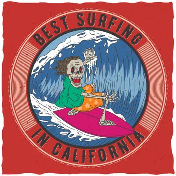 Best Surfing In California Poster