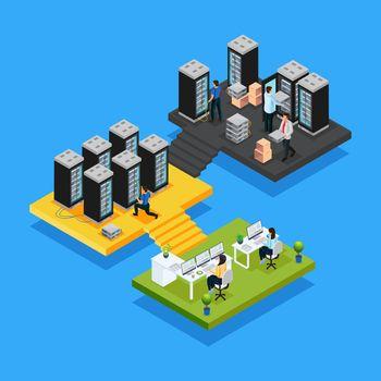 Isometric Data Center Concept