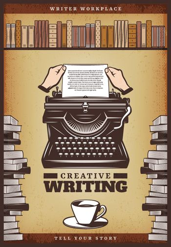 Vintage Colored Writer Poster