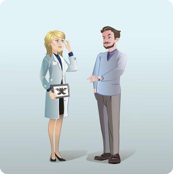 Cartoon Medical Treatment Concept