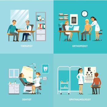 Medical Treatment Square Composition