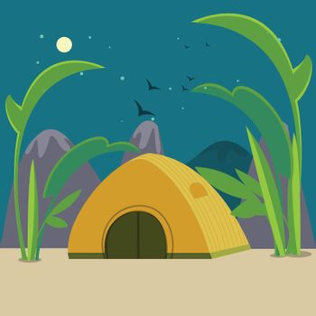 Colorful Camping Background