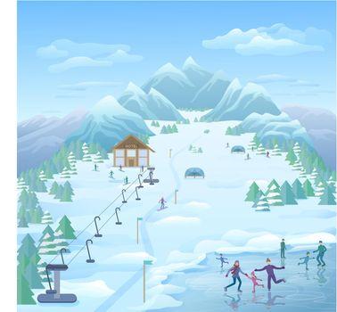 Winter Recreational Park Template