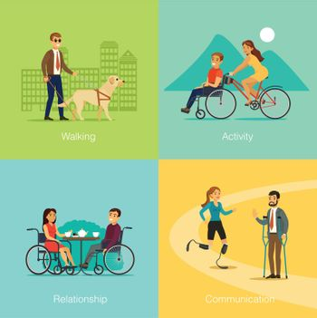 Disabled People Square Concept