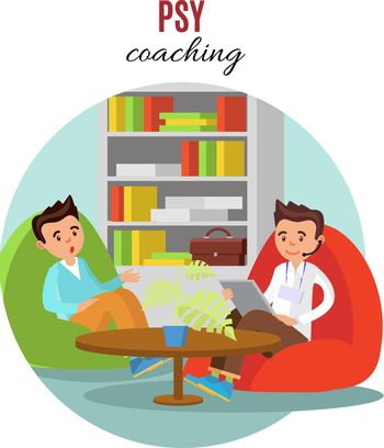 Colorful Psychological Training Concept
