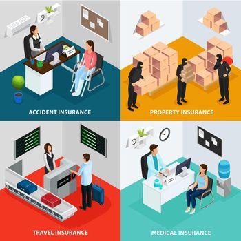 Isometric Insurance Case Concept