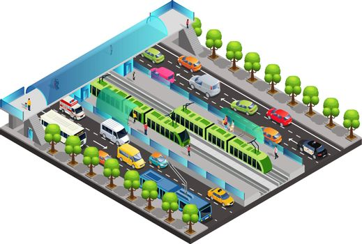 Isometric City Traffic Template