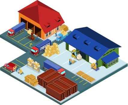 Isometric Warehouse Area Concept