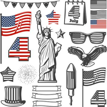 Vintage Independence Day Elements Collection