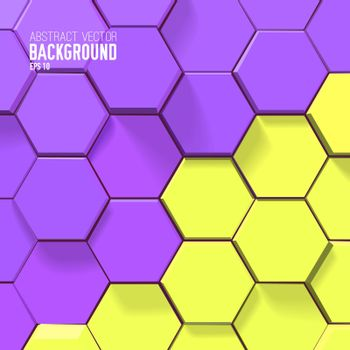 Abstract Bright Honeycomb Design Background