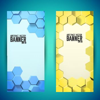 Abstract Geometric Mosaic Vertical Banners