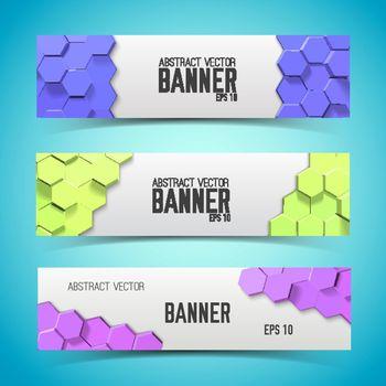 Mosaic Geometric Horizontal Banners