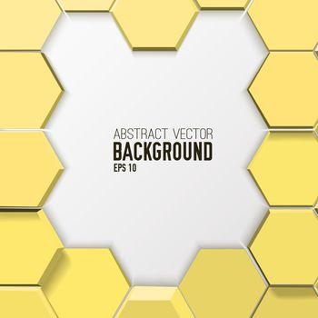 Light Mosaic Abstract Hexagonal Poster