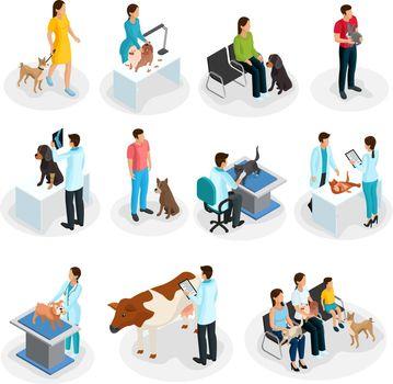 Isometric Veterinary Clinic Set