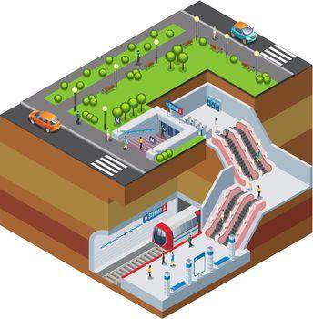Isometric Metro Station Concept