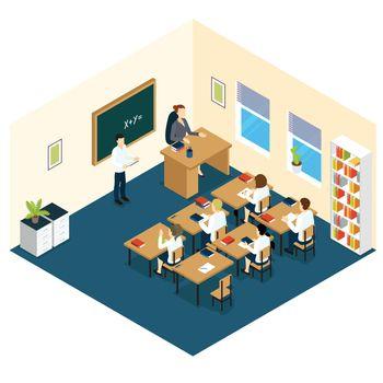 School Classroom Isometric Design