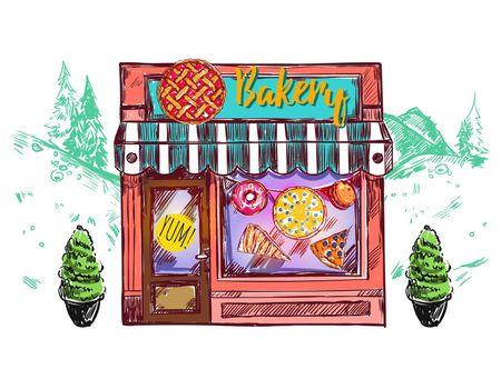 Bakery Cafe Windows Composition