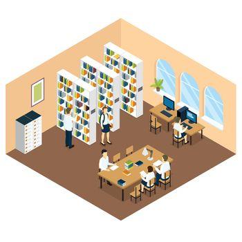 Student Library Isometric Design