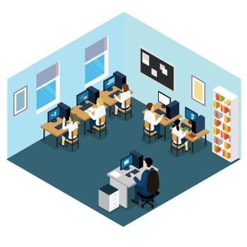 Computer Class Isometric Layout