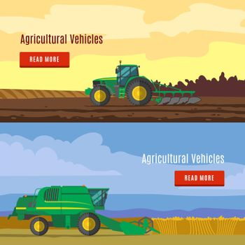 Agricultural Vehicles Flat Banners