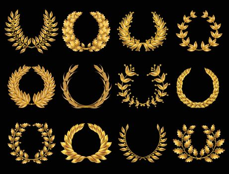 Floral Gold Wreathes Collection